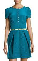 M Missoni Silk  Stripe-knit Dress - Lyst