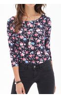 Forever 21 Rose Print Knit Top - Lyst