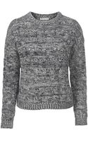 Stefanel Cashmere Wool Braided Sweater - Lyst