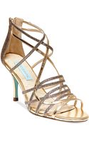 Betsey Johnson Blue By Crown Mid Heel Evening Sandals - Lyst