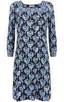 Emilio Pucci Printed Square Neck Shift Dress - Lyst