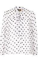 River Island Cream Chelsea Girl Heart Print Blouse - Lyst