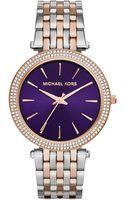 Michael Kors Womens Darci Two-tone Stainless Steel Bracelet Watch 39mm - Lyst