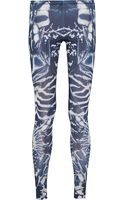 McQ by Alexander McQueen Printed Stretchjersey Leggings - Lyst