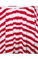 Asos Midi Skirt in Broken Stripe - Lyst