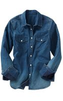 Gap Western Denim Shirt - Lyst