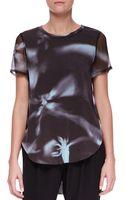 3.1 Phillip Lim Printed Splithem Tshirt - Lyst