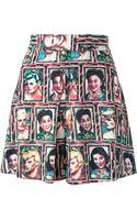 Jean Paul Gaultier Jpg Portrait Print Shorts - Lyst
