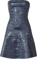 Hervé Léger Sequined Bandage Mini Dress - Lyst