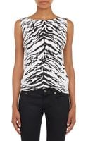 Saint Laurent Zebra Print Tank Top - Lyst