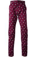 Kenzo Bird Print Trousers - Lyst
