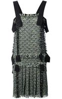 Lanvin Tweed Dress - Lyst