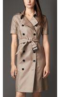 Burberry Silk Trench Dress - Lyst