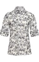 Thom Browne Re-embroidered Lace Shirt - Lyst