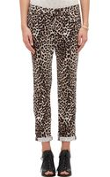 Rag & Bone Snow Leopard Leo Boyfriend Jeans - Lyst