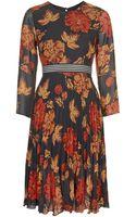 Topshop Womens Bloomsbury Printed Midi Dress - Red - Lyst