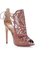 Alexandre Birman Cut-out Python Sandals - Lyst
