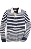 Brooks Brothers Variegated Stripe Rugby - Lyst
