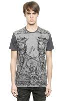 Dolce & Gabbana Printed Cotton Tshirt - Lyst