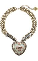 Betsey Johnson Cameo Critters Toc Bulldog Heart Pendant Necklace - Lyst