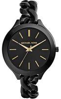 Michael Kors Ladies Black Slim Runway Watch - Lyst