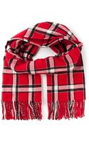 Marc By Marc Jacobs Plaid Scarf - Lyst