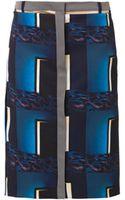 Kenzo Doorsprint Pencil Skirt - Lyst