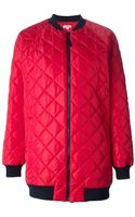 P.a.r.o.s.h. Quilted Oversized Bomber Style Coat - Lyst