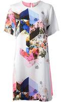 Preen By Thorton Bregazzi Mixed Print Shift Dress - Lyst