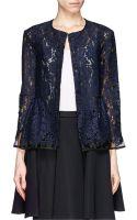 MSGM Lace Peplum Jacket - Lyst