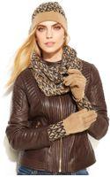 Michael Kors Michael Logo Repeat Foldover Cuff Glove - Lyst