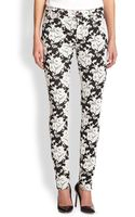 7 For All Mankind Rose Lace-jacquard Skinny Jeans - Lyst