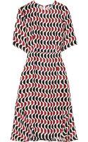 Marni Printed Satin twill Dress - Lyst