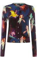 Paul Smith Black Label Floral Printed Cardigan - Lyst