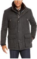 Hugo Boss T-cenu  Wool and Cashmere Blend Coat with Removable Fur Vest - Lyst