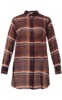 MiH Jeans The Oversized Check Silk Shirt - Lyst