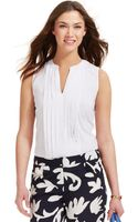 Tommy Hilfiger Sleeveless Pleated Top - Lyst