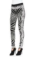 Hervé Léger Zebra Chain Print Jacquard Pants - Lyst