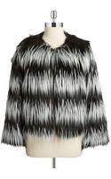 Vince Camuto Faux Fur Box Jacket - Lyst