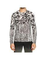 Roberto Cavalli Tshirt Long Sleeve Crewnwck Print - Lyst