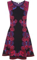 Diane von Furstenberg Knitted Fit and Flare Dress - Lyst