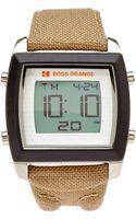 Boss Orange Silver-tone  Tan Digital Watch - Lyst