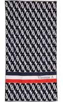 Vicomte A. Allover Print Navy Towel - Lyst
