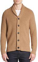 Vince Shawl Collar Camel Hair  Wool Cardigan - Lyst