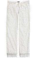 J.Crew Petite Pajama Pant in Polka-dot Flannel - Lyst