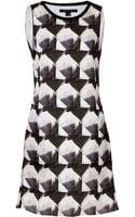 Theyskens' Theory Silk Irock Print Dress - Lyst