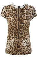 Dolce & Gabbana Leopard Print Tshirt - Lyst