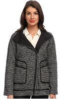 Rebecca Taylor Tweed Asymmetrical Coat - Lyst