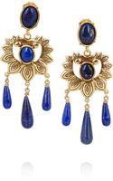 Oscar de la Renta Goldplated Lapis Lazuli Earrings - Lyst