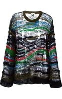 M Missoni Distressed Sweater - Lyst